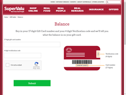 Supervalu gift card balance check