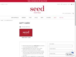 Seed Heritage gift card balance check