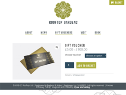 Rooftop Gardens gift card purchase