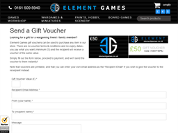 Element Games gift card purchase