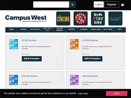 Campus West gift card purchase
