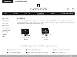 Shoepassion gift card purchase