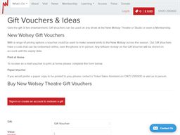 The New Wolsey Theatre gift card purchase