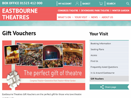 Eastbourne Theatres gift card purchase