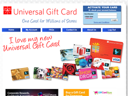 Universal Gift Card shopping