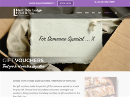 Nant Ddu Lodge gift card purchase