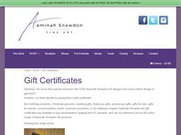 Aaminah Snowdon Art gift card purchase
