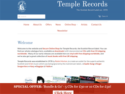 Temple Records shopping