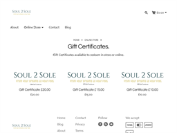 Soul 2 Sole gift card purchase