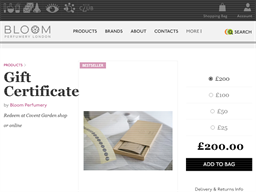 Bloom Perfume gift card purchase