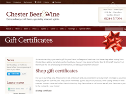 Chester Beer and Wine gift card purchase