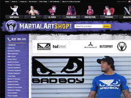 Martial Arts Shop shopping