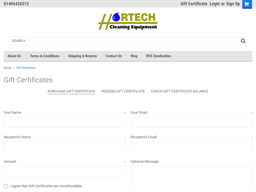Hortech Cleaning Equipment gift card purchase