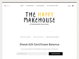 The Happy Makehouse gift card balance check