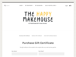 The Happy Makehouse gift card purchase