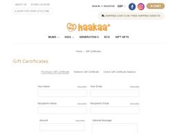 Haakaa gift card purchase