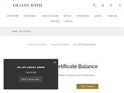 Lillian Daph gift card balance check