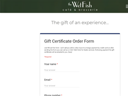 The Wet Fish Cafe & Brasserie gift card purchase