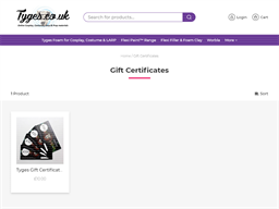 Tyges Supplies gift card purchase