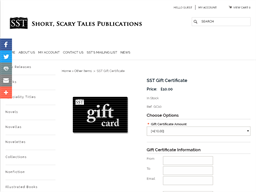 SST Short Scary Tales Publications gift card purchase