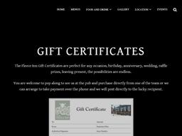The Fleece Inn gift card purchase