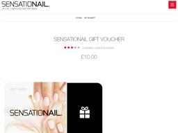 Sensationail gift card purchase