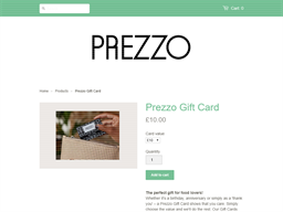 Prezzo gift card purchase