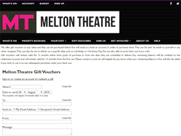 Melton Theatre gift card purchase