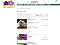 Thorncroft Clematis gift card purchase