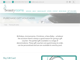 The Beauty Rooms gift card purchase