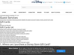Shop Disney gift card purchase