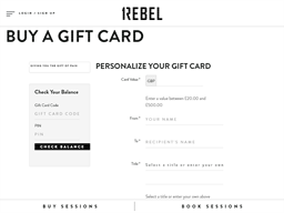 1Rebel gift card balance check
