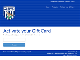 The Baggies Brick Road gift card balance check