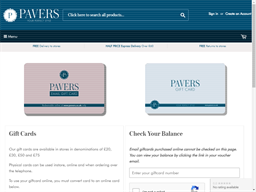 Pavers Shoes gift card balance check