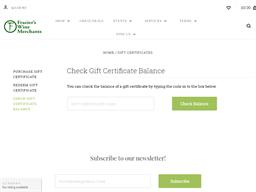 Fraziers Wine Merchants gift card balance check