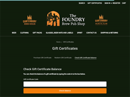 Canterbury Brewers And Distillers gift card balance check