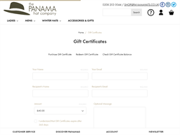 The Panama Hat Company gift card purchase