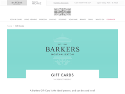 Barkers Home Northallerton gift card purchase