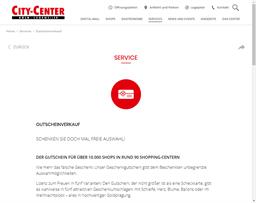 City-Center Köln-Chorweiler gift card purchase