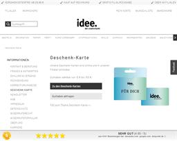 idee Creativmarkt gift card purchase