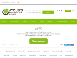 Ayoub's Dried Fruits & Nuts gift card purchase