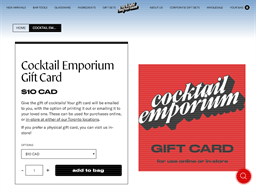 Cocktail Emporium gift card purchase