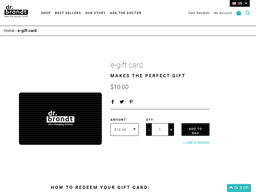 Dr. Brandt Skincare gift card purchase