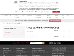 Tandy Leather gift card purchase