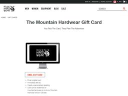 Mountain Hardwear gift card purchase