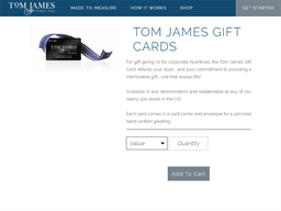 Tom James Company gift card purchase