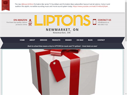 Liptons Audio Video gift card purchase