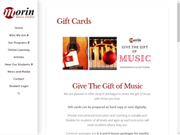 Morin Music Studio gift card purchase