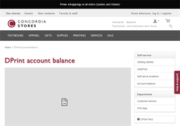 Concordia Stores gift card balance check