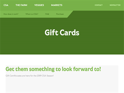 Riverbend CSA gift card purchase